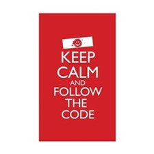 Keep Calm and Follow the Code Decal