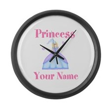 Blond Princess Personalized Large Wall Clock