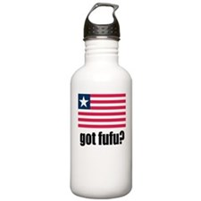 Liberian Flag Got Fufu Water Bottle