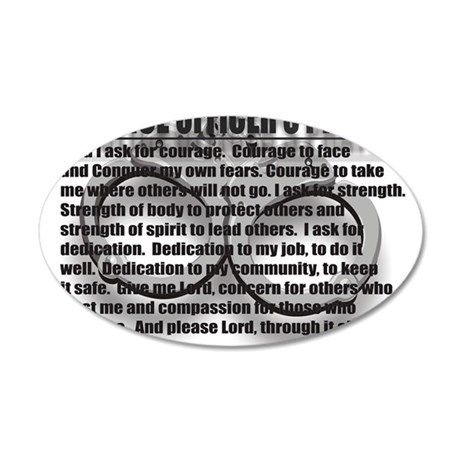 A POLICE OFFICERS PRAYER 20x12 Oval Wall Decal