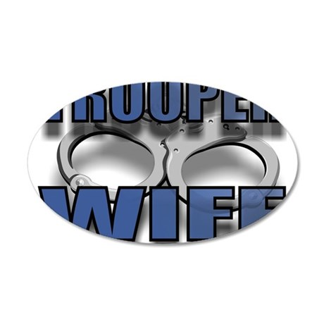 TROOPERWIFE.jpg 20x12 Oval Wall Decal