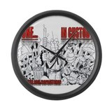 ONE IN CUSTODY Large Wall Clock