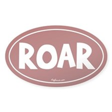 Roar Oval Decal