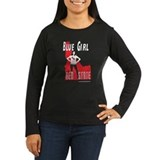 bluegirldarkshirtcafepress Long Sleeve T-Shirt