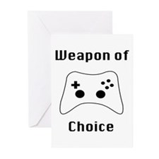 Weapon of Choice Game Controller Tee Greeting Card