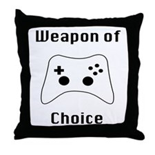 Weapon of Choice Game Controller Tee Throw Pillow