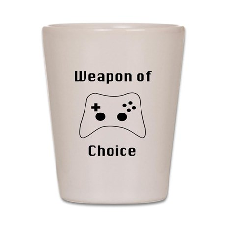 Weapon of Choice Game Controller Tee Shot Glass