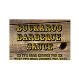 Buckaroo on Wood - Rectangle Magnet (10 pack)