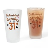 Halloween Birthday Drinking Glass