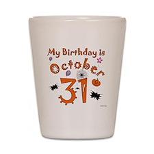 Halloween Birthday Shot Glass