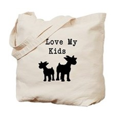 I Love My Kids Tote Bag