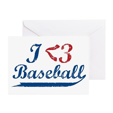 Geeky Baseball Fan Greeting Cards (Pk of 10)
