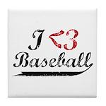 Geeky Baseball Fan Tile Coaster