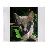 Russian Blue Cat Throw Blanket