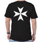 White Maltese Cross T