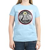 "Weird Dollar ""Illuminati"" Women's Pink T-Shirt"