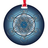 Metatrons Cube Round Ornament