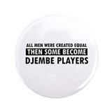 "Djembe players Designs 3.5"" Button (100 pack)"