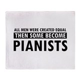 Pianists Designs Throw Blanket