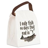 I fish Canvas Lunch Bag