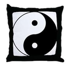 Yin & Yang (Black/White) Throw Pillow
