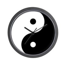 Yin & Yang (Black/White) Wall Clock