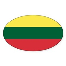 Lithuania Oval Decal
