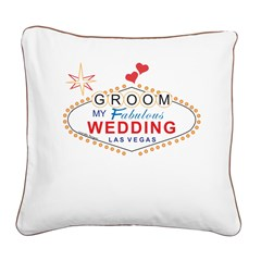 las vegas groom pillow