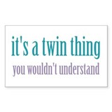 Twin Thing 1 Rectangle Decal