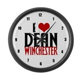 I Love Dean Winchester Large Wall Clock
