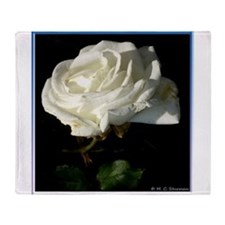 Rose! White rose photo! Throw Blanket