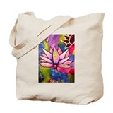 Pink Lotus Erin DuFrane Art Painting Tote Bag