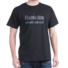 Twin Thing 2 Black T-Shirt