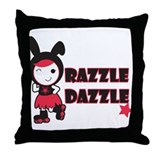 Roller Derby - Razzle Dazzle Throw Pillow
