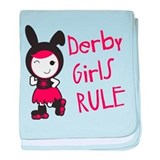 Roller Derby - Derby Girls Rule baby blanket