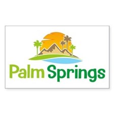 Palm Springs Rectangle Decal