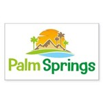 Palm Springs Rectangle Sticker