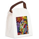 Flora Pastel Canvas Lunch Bag
