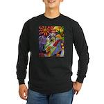 Flora Pastel Long Sleeve Dark T-Shirt