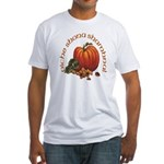 Gaelic Greetings Pumpkin Fitted T-Shirt
