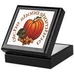 Gaelic Greetings Pumpkin Keepsake Box
