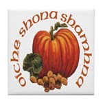 Gaelic Greetings Pumpkin Tile Coaster