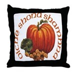 Gaelic Greetings Pumpkin Throw Pillow