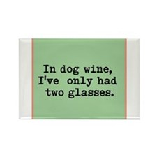 Funny Wine Rectangle Magnet