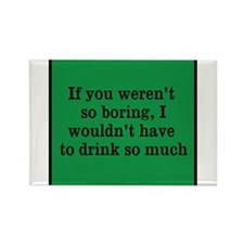 Funny Drinking Rectangle Magnet