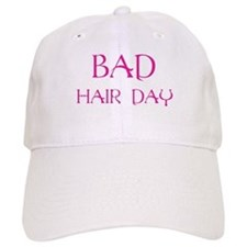 Pink Print Bad Hair Day Baseball Cap