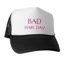 Pink Print Bad Hair Day Trucker Hat