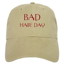 Red Print Bad Hair Day Baseball Cap