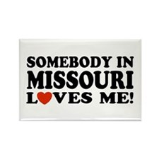 Somebody In Missouri Loves Me Rectangle Magnet