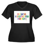 Happy Birthday Mommy.psd Women's Plus Size V-Neck